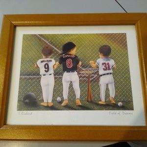 Other - MLB Vintage Art Print Field of Dreams by T.Richard